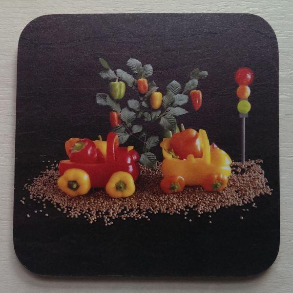 Foodshoots Pepper Train - Unique Design Coaster