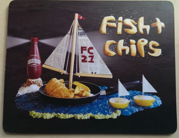 Foodshoots Fish and Chips - Unique Design Tablemat