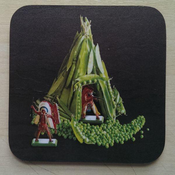 Foodshoots Tee Pea - Unique Design Coaster